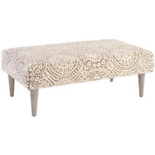 Temple Taupe Tapered Cerused Oak Leg Rug Ottoman