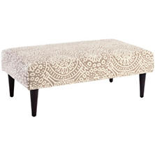 Temple Taupe Tapered Tobacco Leg Rug Ottoman