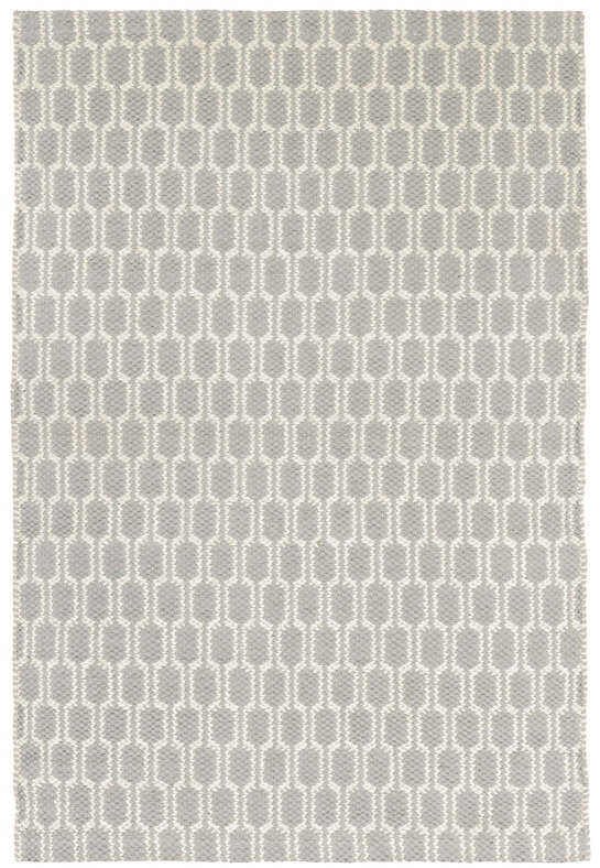 Terra Dove Grey Woven Cotton Rug