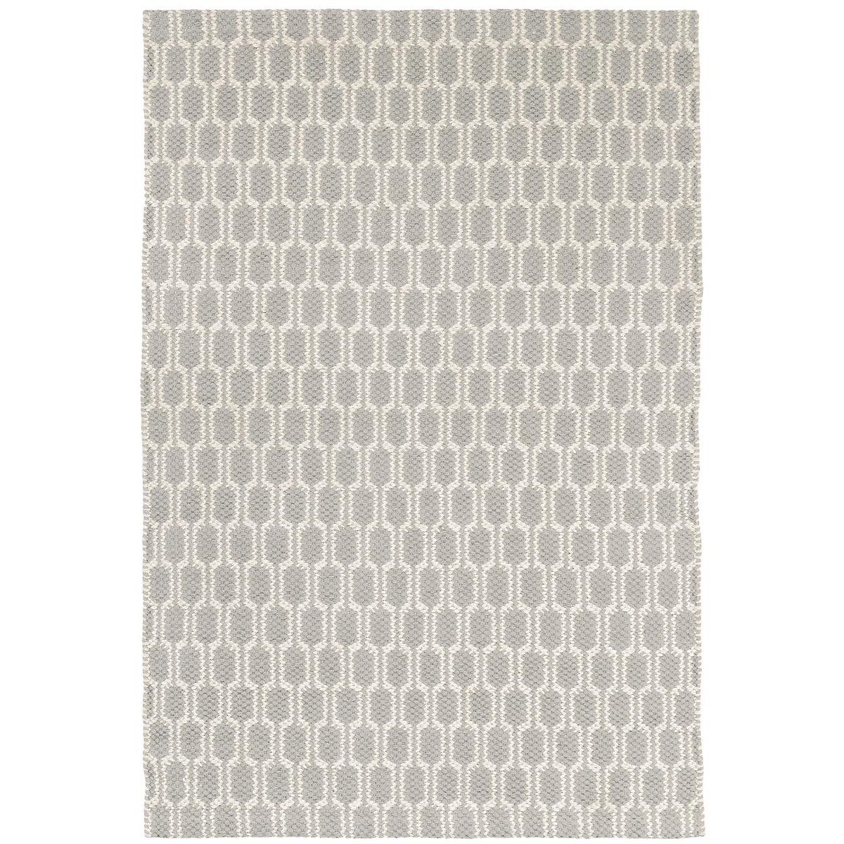 dbd5a8fca Terra Dove Grey Woven Cotton Rug | The Outlet