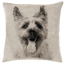 Terrier Natural Decorative Pillow