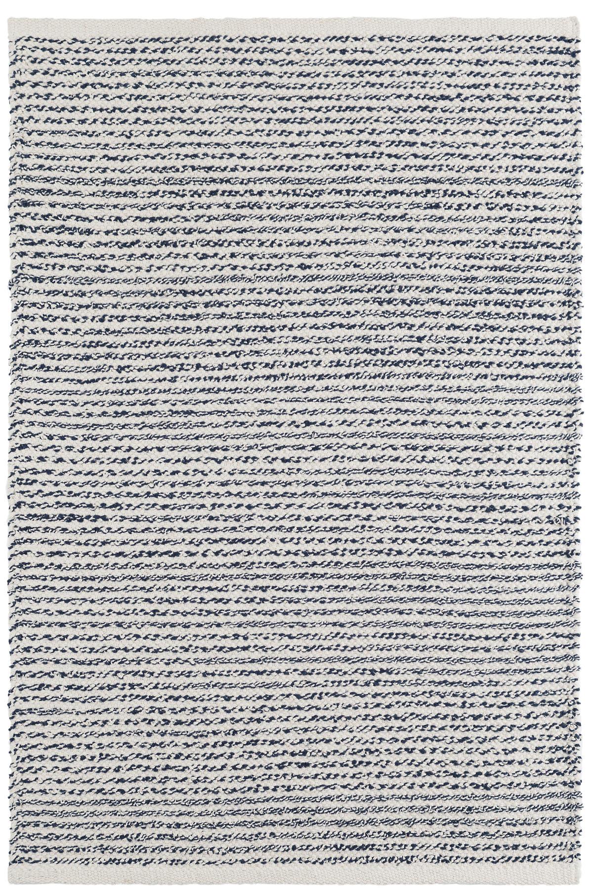 Theo Indigo Woven Cotton Rug