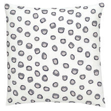 Thumbprint Shale/Pearl Grey Embroidered Decorative Pillow