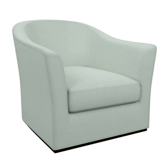 Estate Linen Powder Blue Thunderbird Swivel Chair