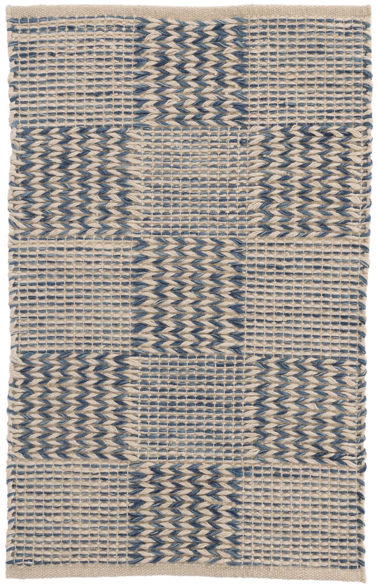Tiles Blue Woven Jute Rug