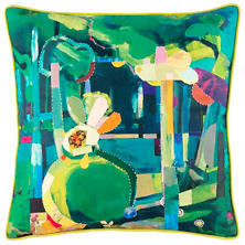Topiary Felt Embroidered Decorative Pillow