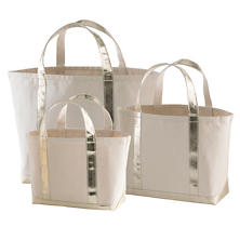 Glam Canvas Natural/Gold Tote Bag