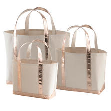 Glam Canvas Natural/Rose Gold Tote Bag