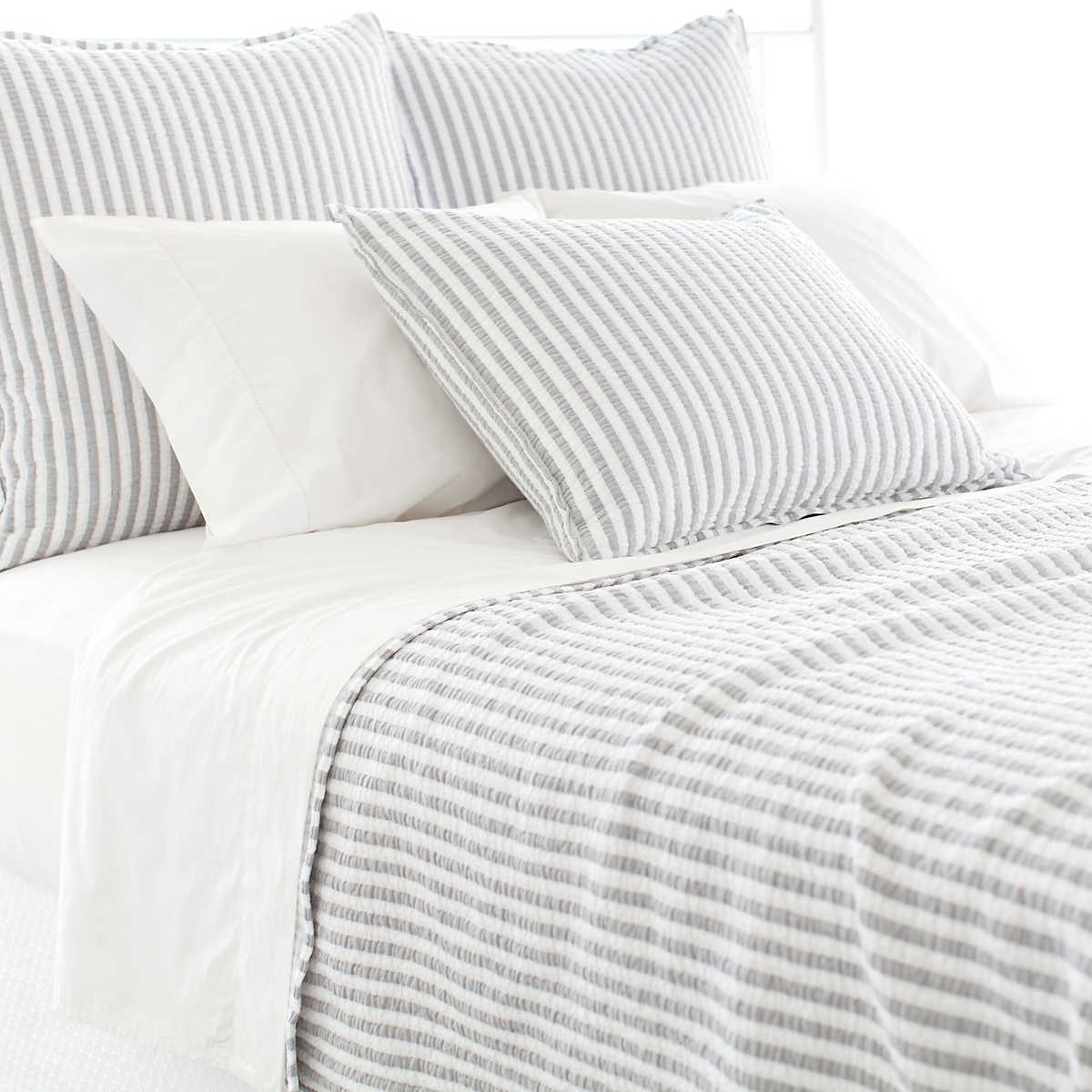 Town And Country Grey Matelass 233 Sham The Outlet