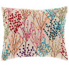 Treescape Embroidered Multi Decorative Pillow