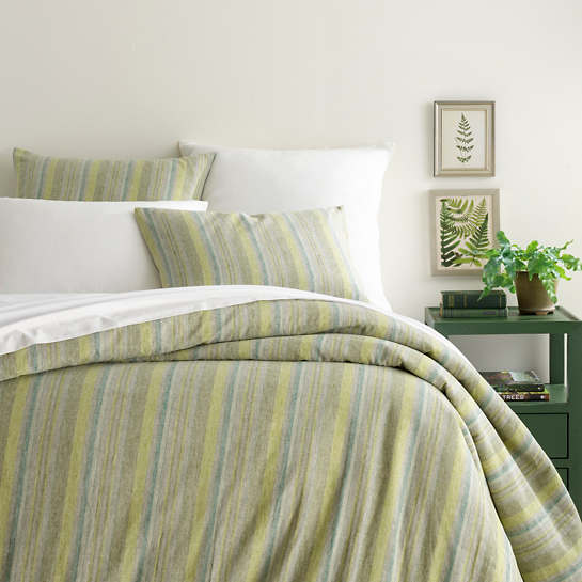 Treetop Linen Stripe Duvet Cover
