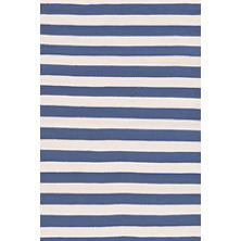 Trimaran Stripe Denim/Ivory Indoor/Outdoor Rug
