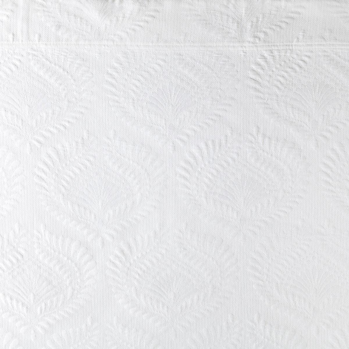 Trinita White Matelassé Coverlet