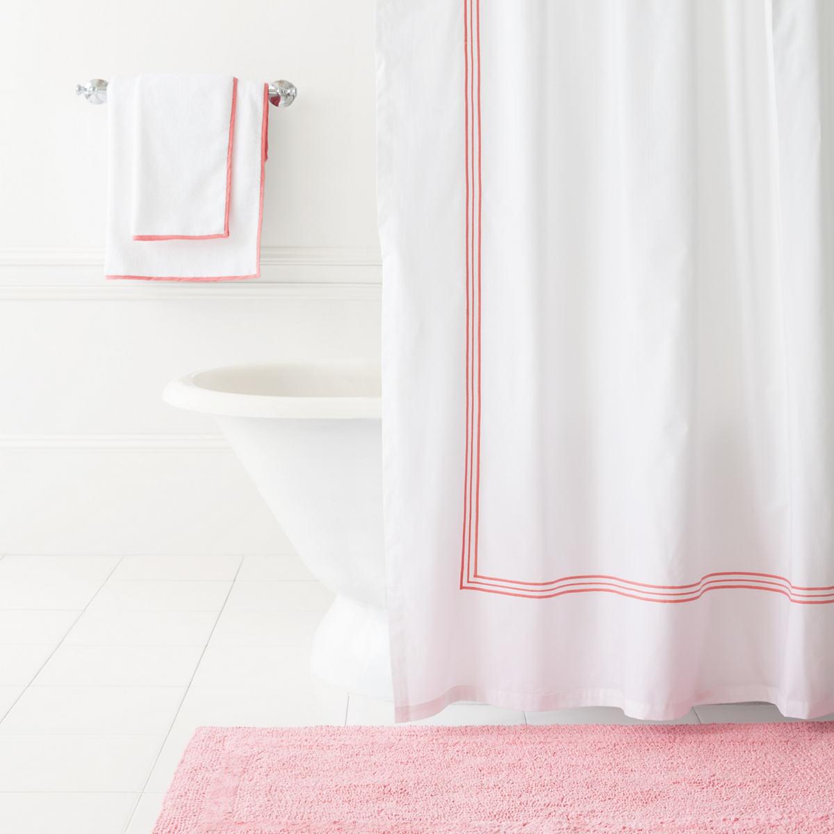 Trio Coral Shower Curtain