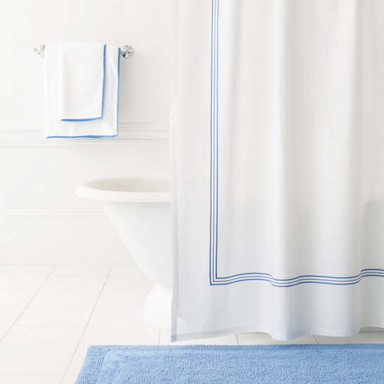 Trio French Blue Shower Curtain