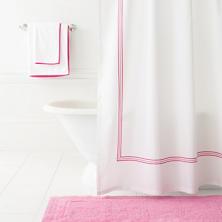Trio Fuchsia Shower Curtain