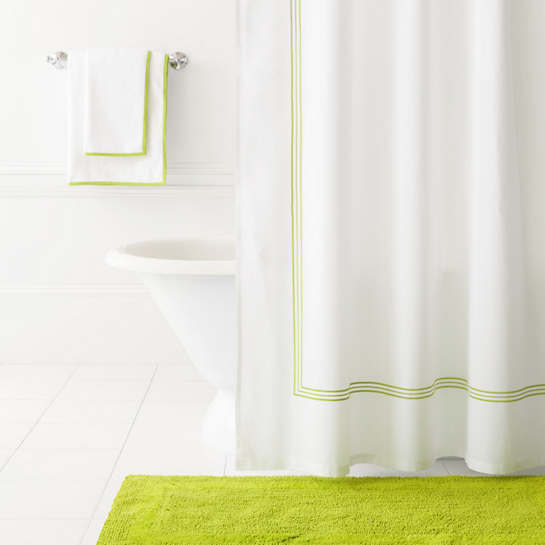 Trio Green Shower Curtain