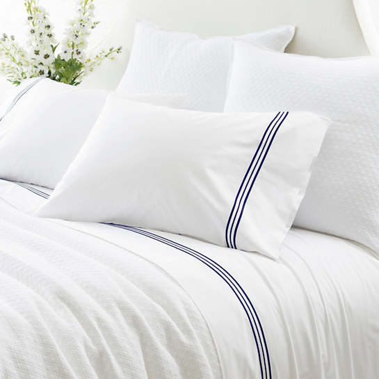 Trio Indigo Sheet Set