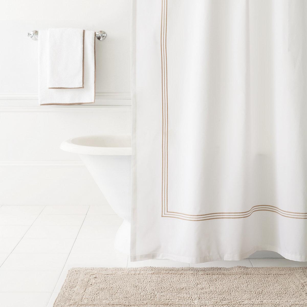 Trio Linen Shower Curtain | Pine Cone Hill