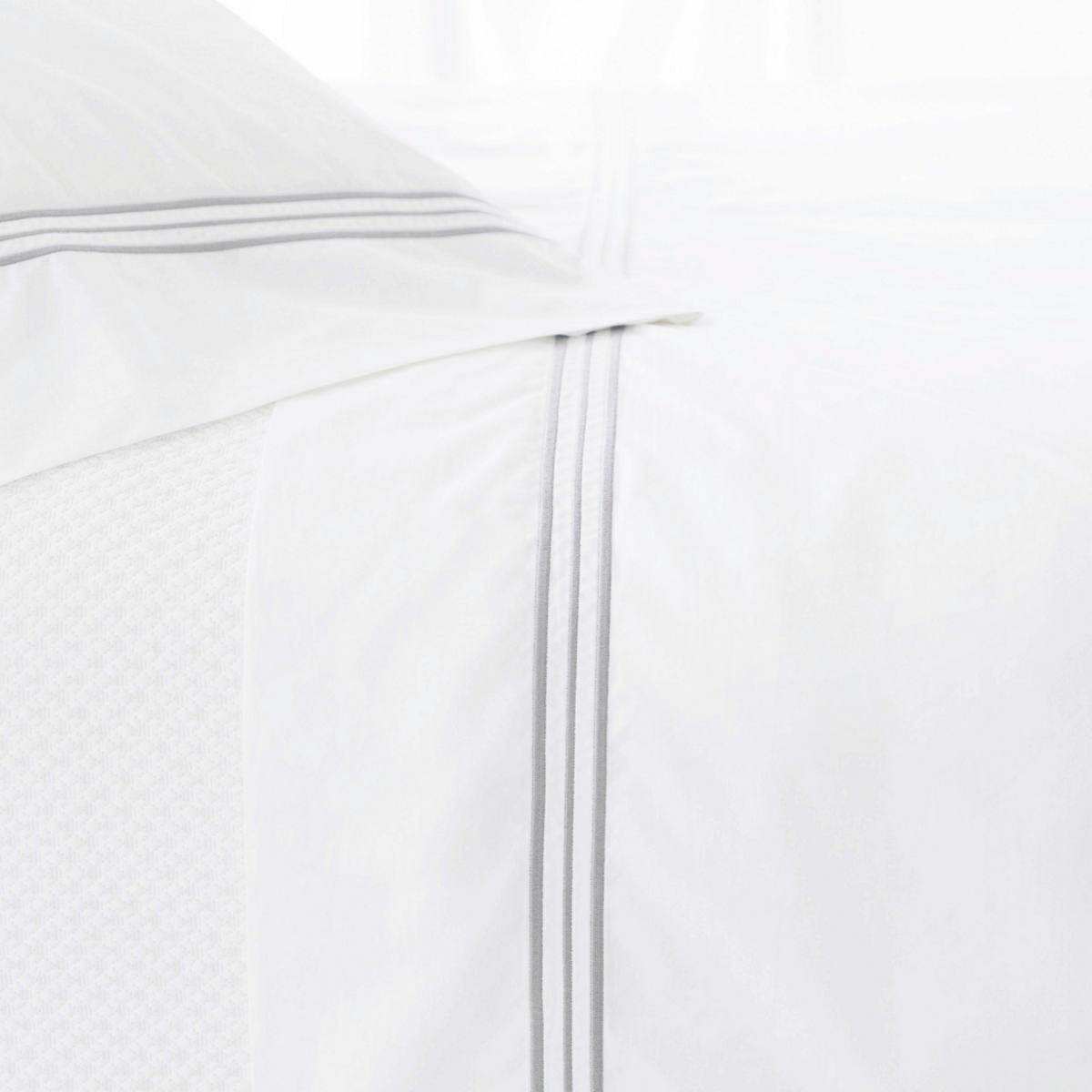 Trio Pearl Grey Flat Sheet