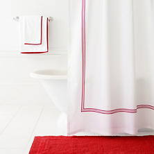 Trio Red Shower Curtain