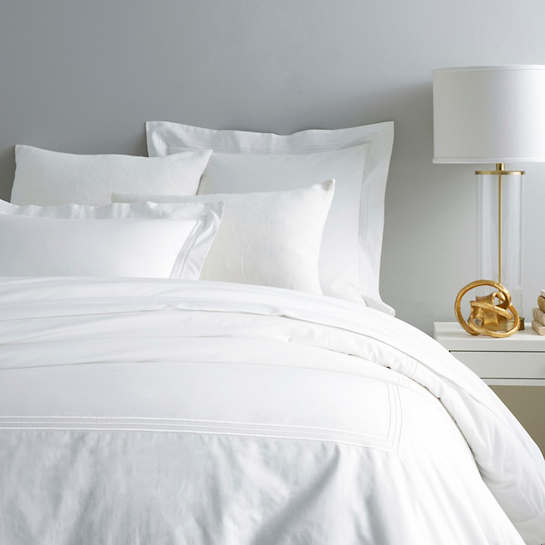 Trio White Duvet Cover
