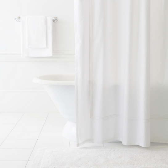 Trio White Shower Curtain