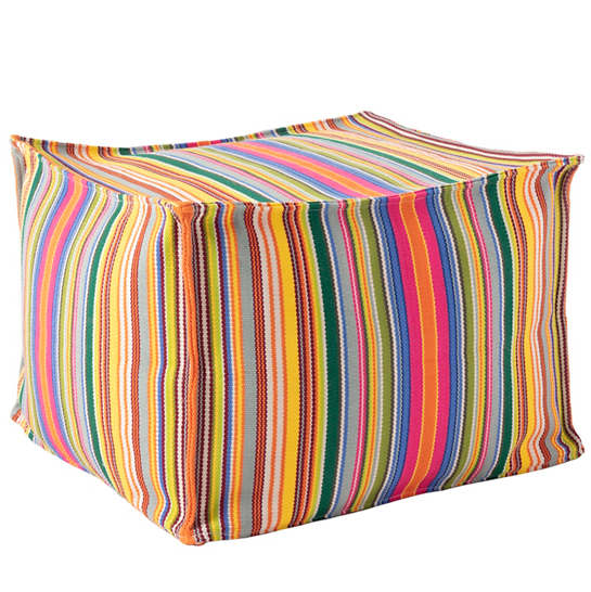 Tropical Stripe Multi Indoor/Outdoor Pouf