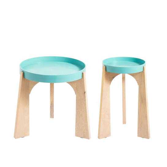 Turquoise Modular Side Table