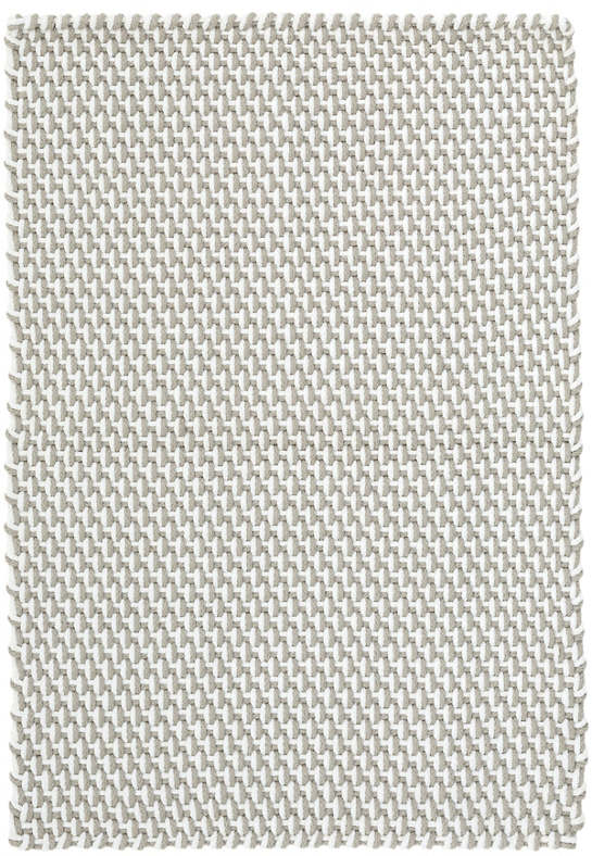 Two-Tone Rope Platinum/White Indoor/Outdoor Rug