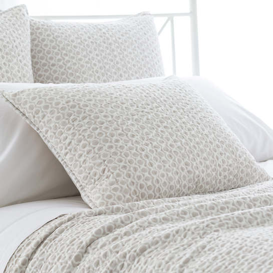 Tyler Pearl Grey Quilted Sham Pine Cone Hill