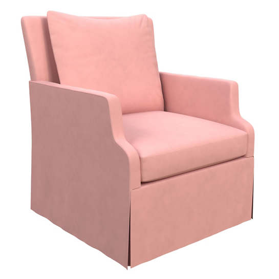 Velvesuede Lavender Rose Aix Chair