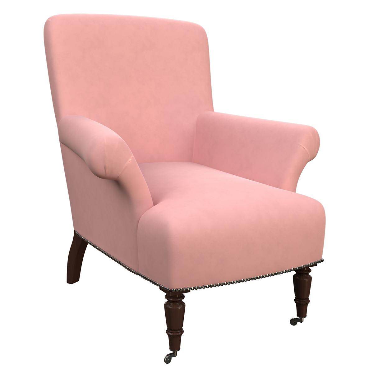 Velvesuede Lavender Rose Barrington Chair