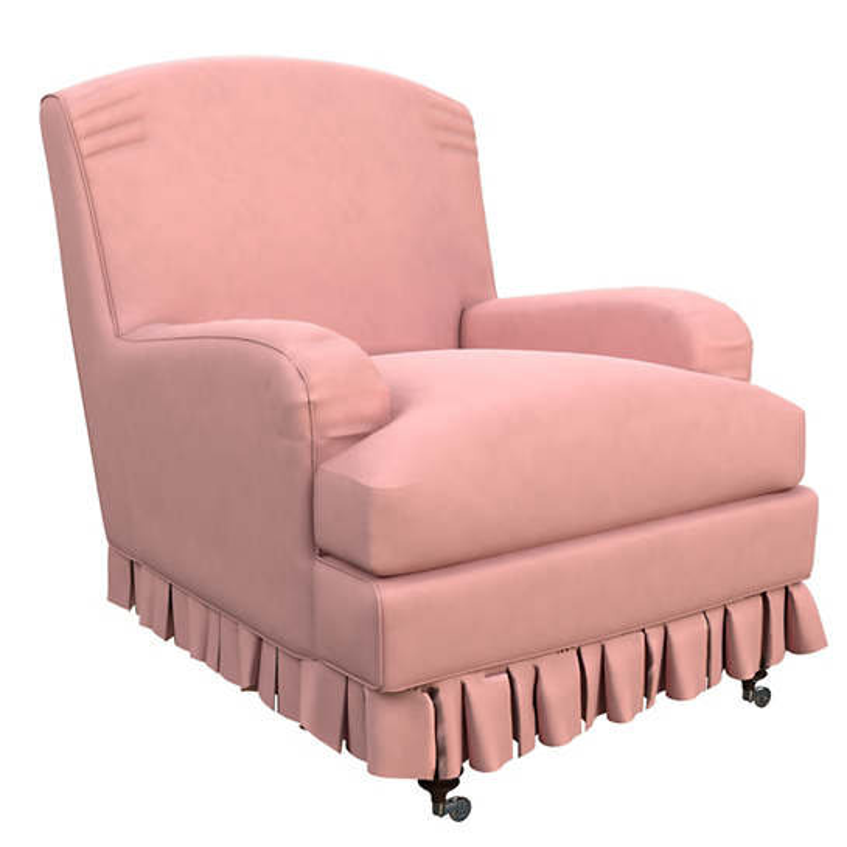 Velvesuede Lavender Rose Ellis Chair