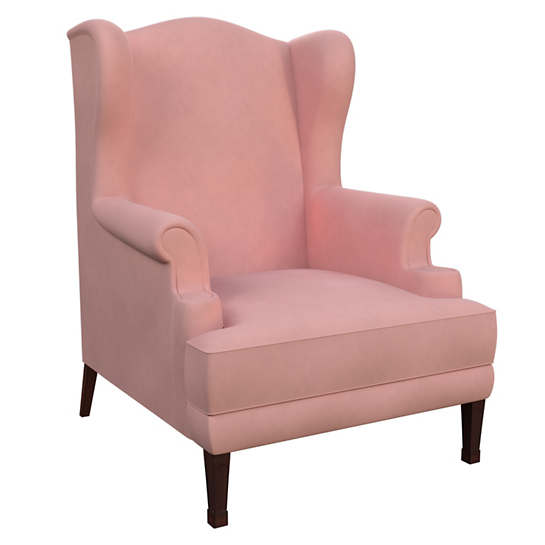 Velvesuede Lavender Rose Lismore Chair