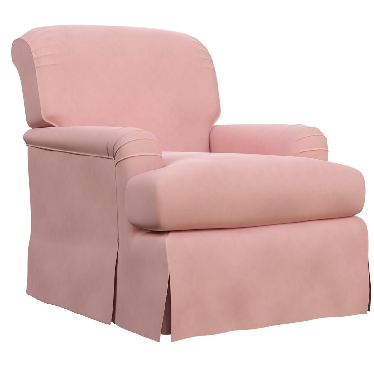 Velvesuede Lavender Rose Longford Chair