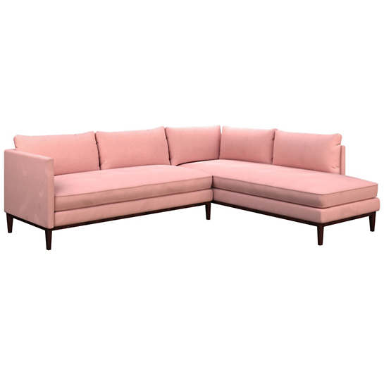 Velvesuede Lavender Rose Paseo Sectional
