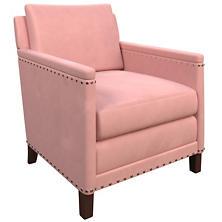 Velvesuede Lavender Rose Ridgefield Chair