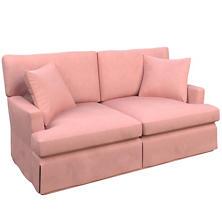 Velvesuede Lavender Rose Saybrook 2 Seater Upholstered Sofa
