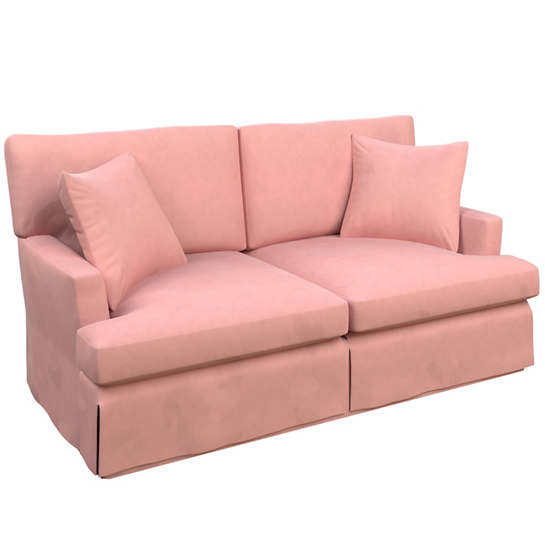 Velvesuede Lavender Rose Saybrook 2 Seater Slipcovered Sofa