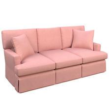 Velvesuede Lavender Rose Saybrook 3 Seater Upholstered Sofa