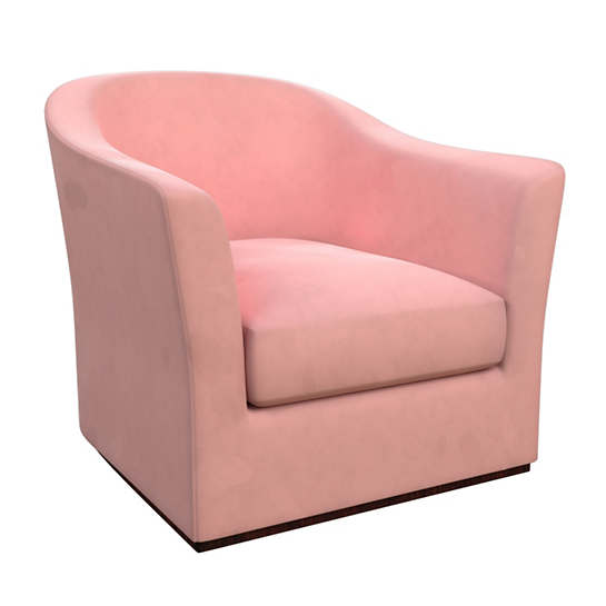 Velvesuede Lavender Rose Thunderbird Chair