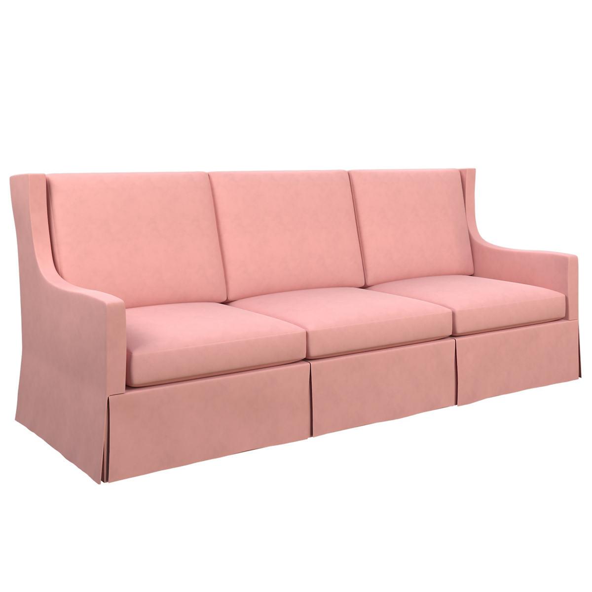 Velvesuede Lavender Rose Toulouse Sofa