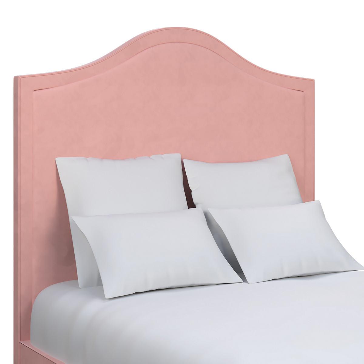 Velvesuede Lavender Rose Westport Headboard