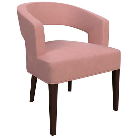 Velvesuede Lavender Rose Wright Chair