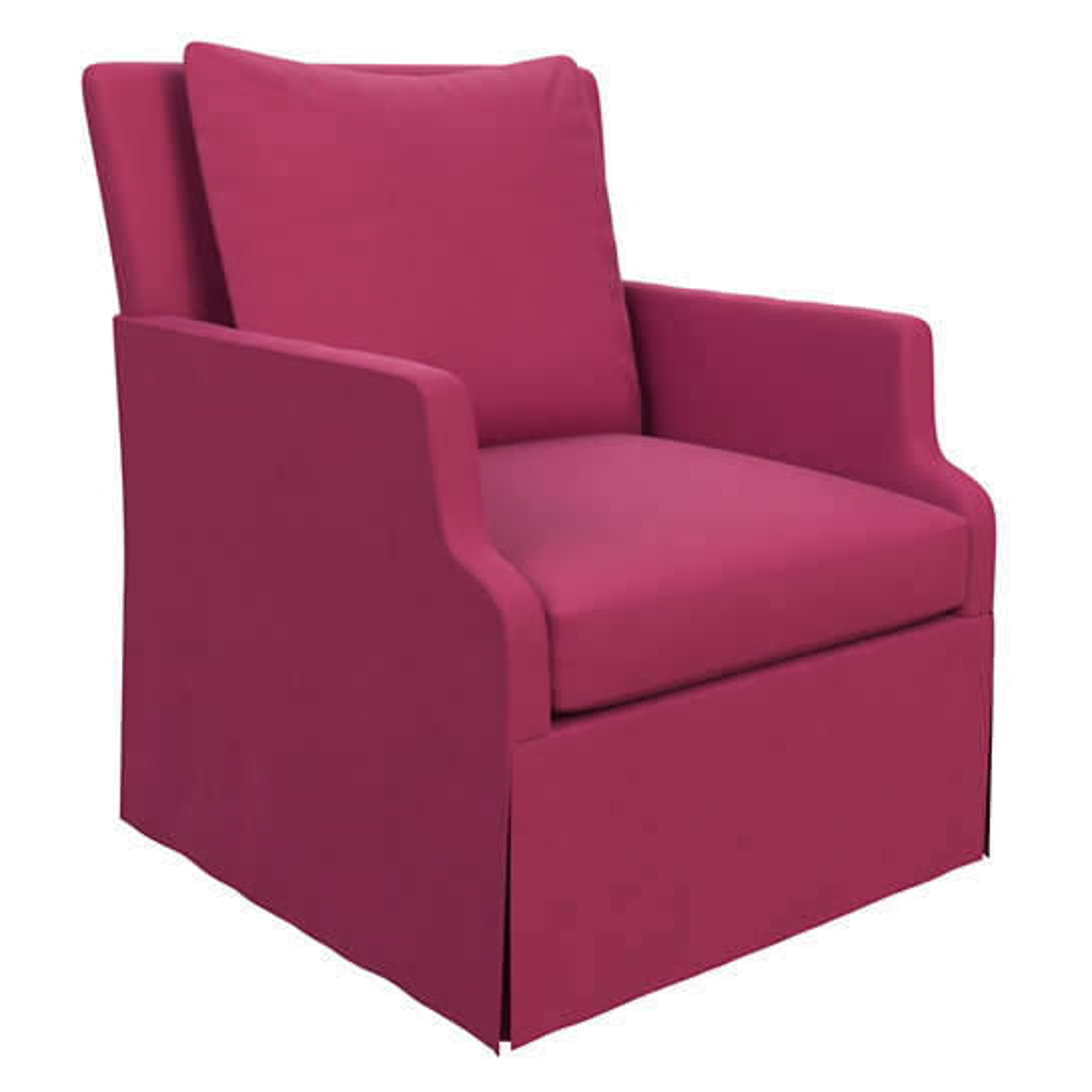 Velvesuede Magenta Aix Chair
