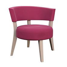 Velvesuede Magenta Crescent Chair