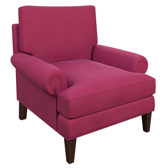Velvesuede Magenta Easton Chair