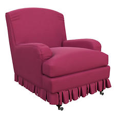Velvesuede Magenta Ellis Chair