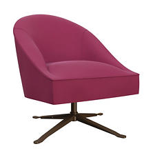 Velvesuede Magenta Embrace Chair